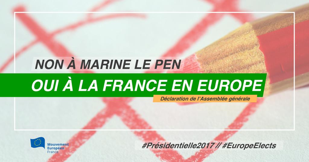 Oui à la France en Europe