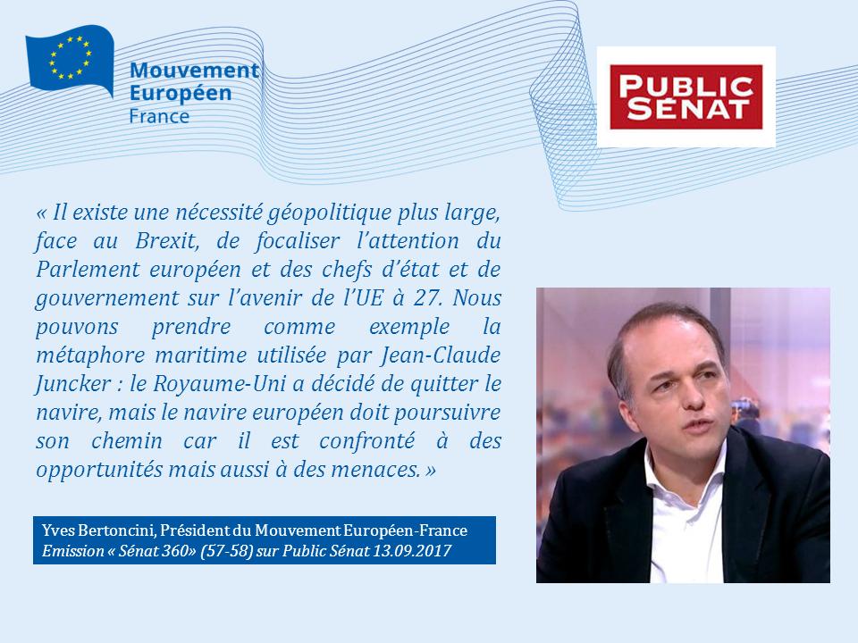 Yves Bertoncini sur le Brexit Public Sénat