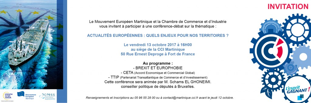 Invitation conférence Brexit Martinique