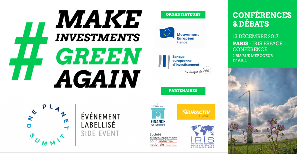 Make investiments green again