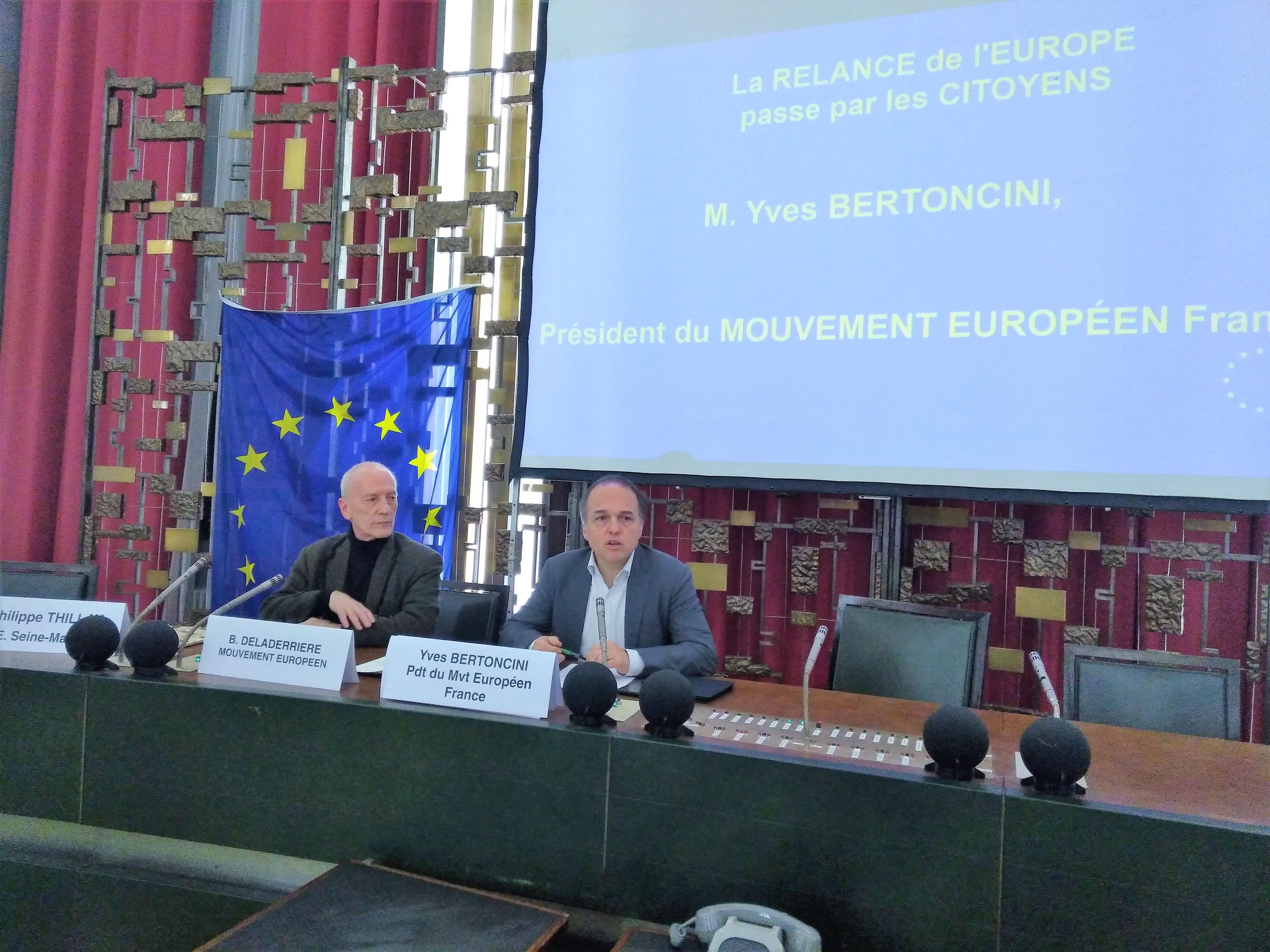Yves Bertoncini et Bernard Deladerriere