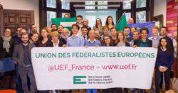 Photo de groupe des membres de l'Union des Fédéralistes Européens