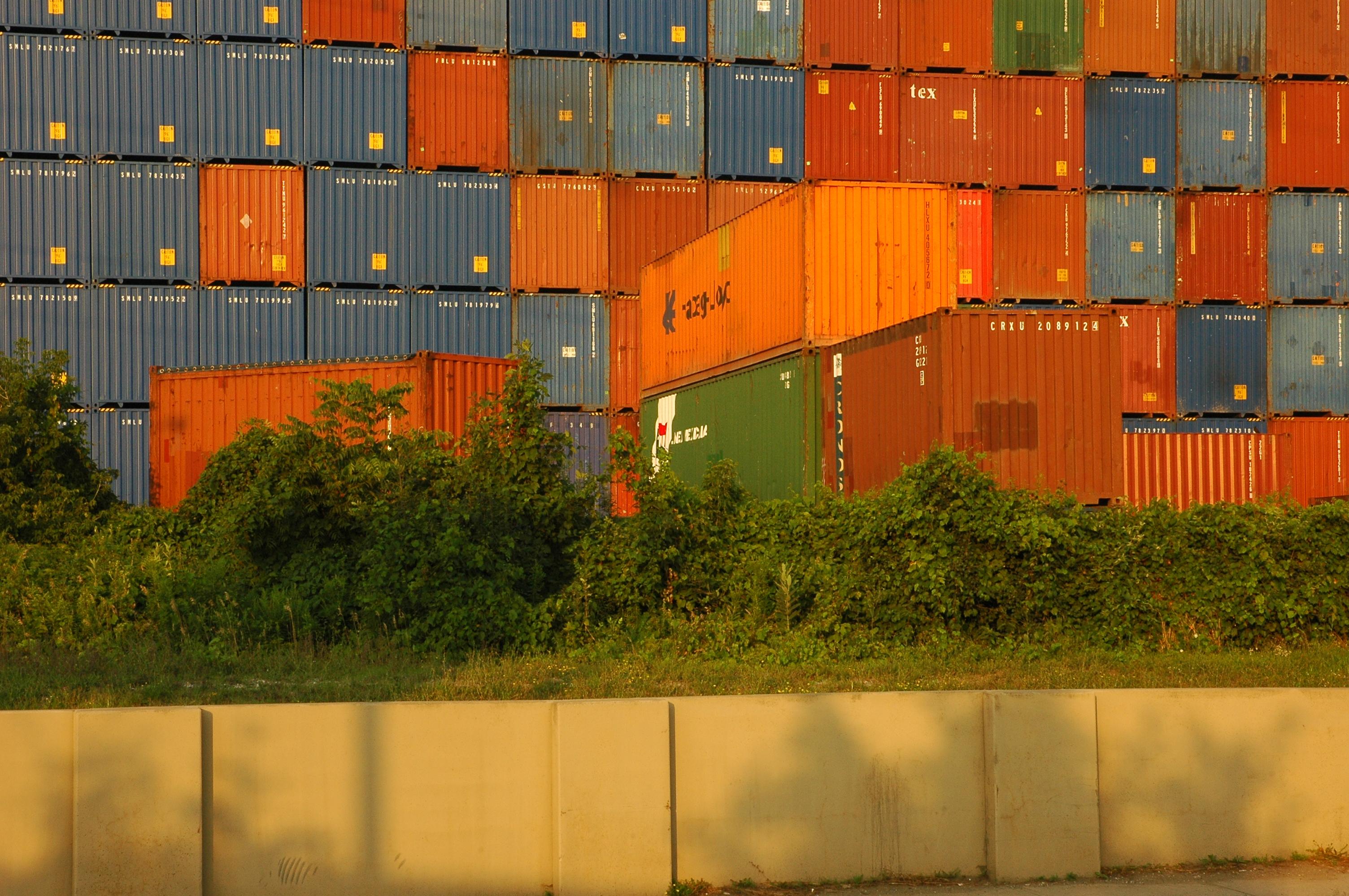 containers d'affrètement, illustration du libre-échange
