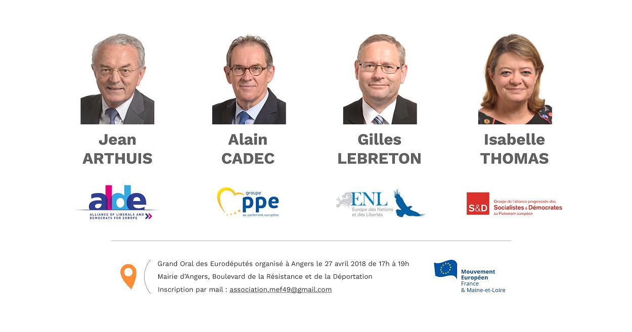 Les Eurodéputés à Angers