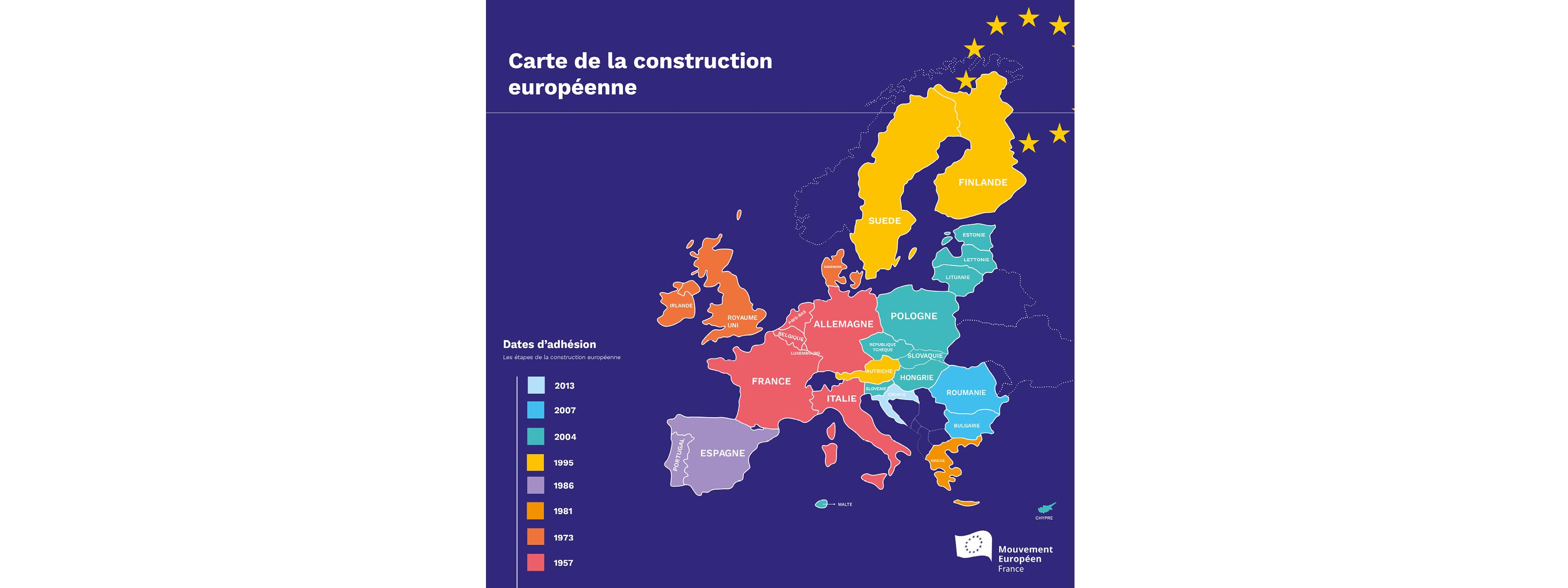 Carte Union Europeenne 2019.Union Europeenne La Construction Europeenne En Carte