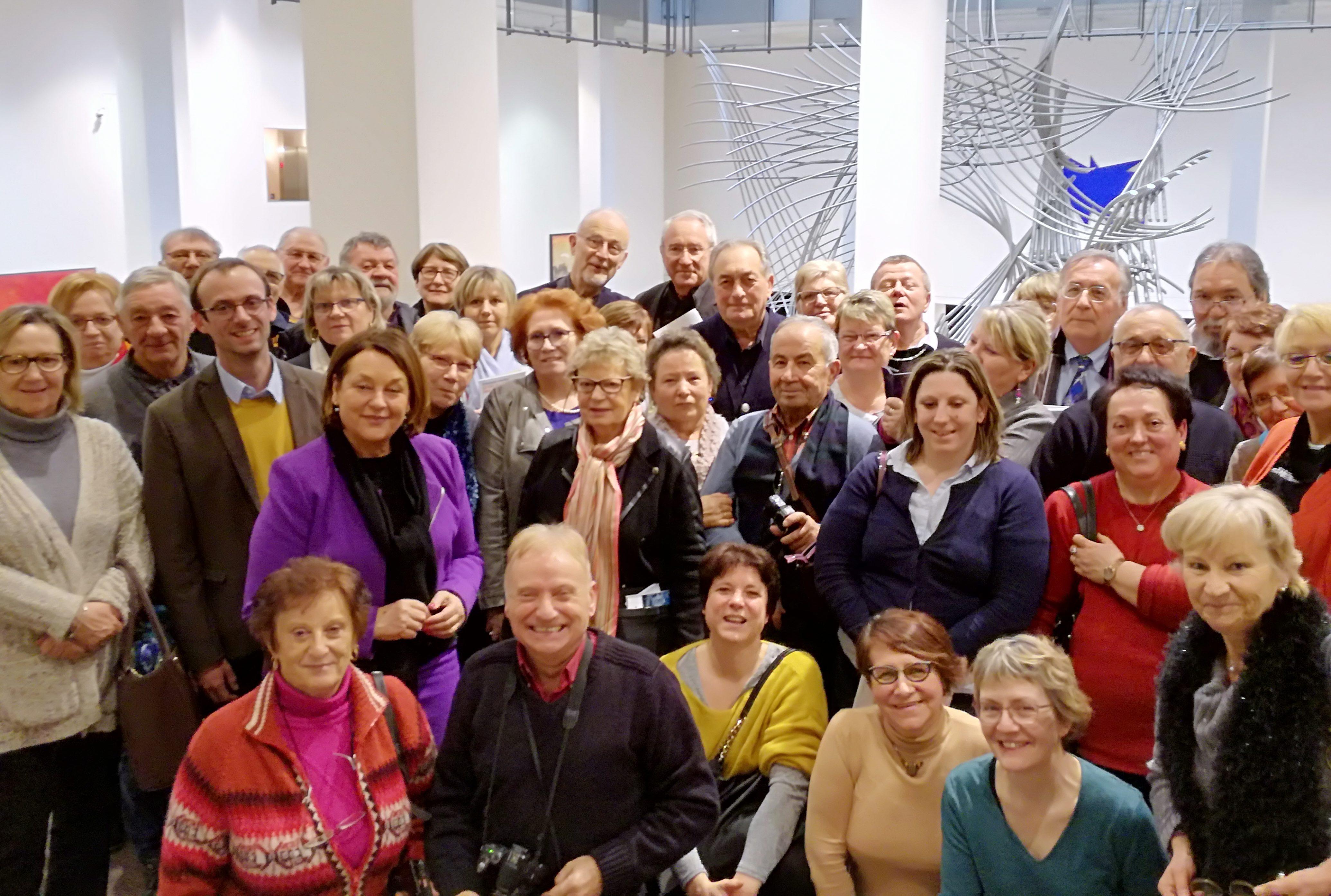 Le Voyage à Bruxelles du Mouvement Européen - Aube pour visiter le Parlement européen