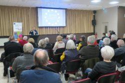 Yves Bertoncini lors d'une conférence à Arrassur le projet commun européen