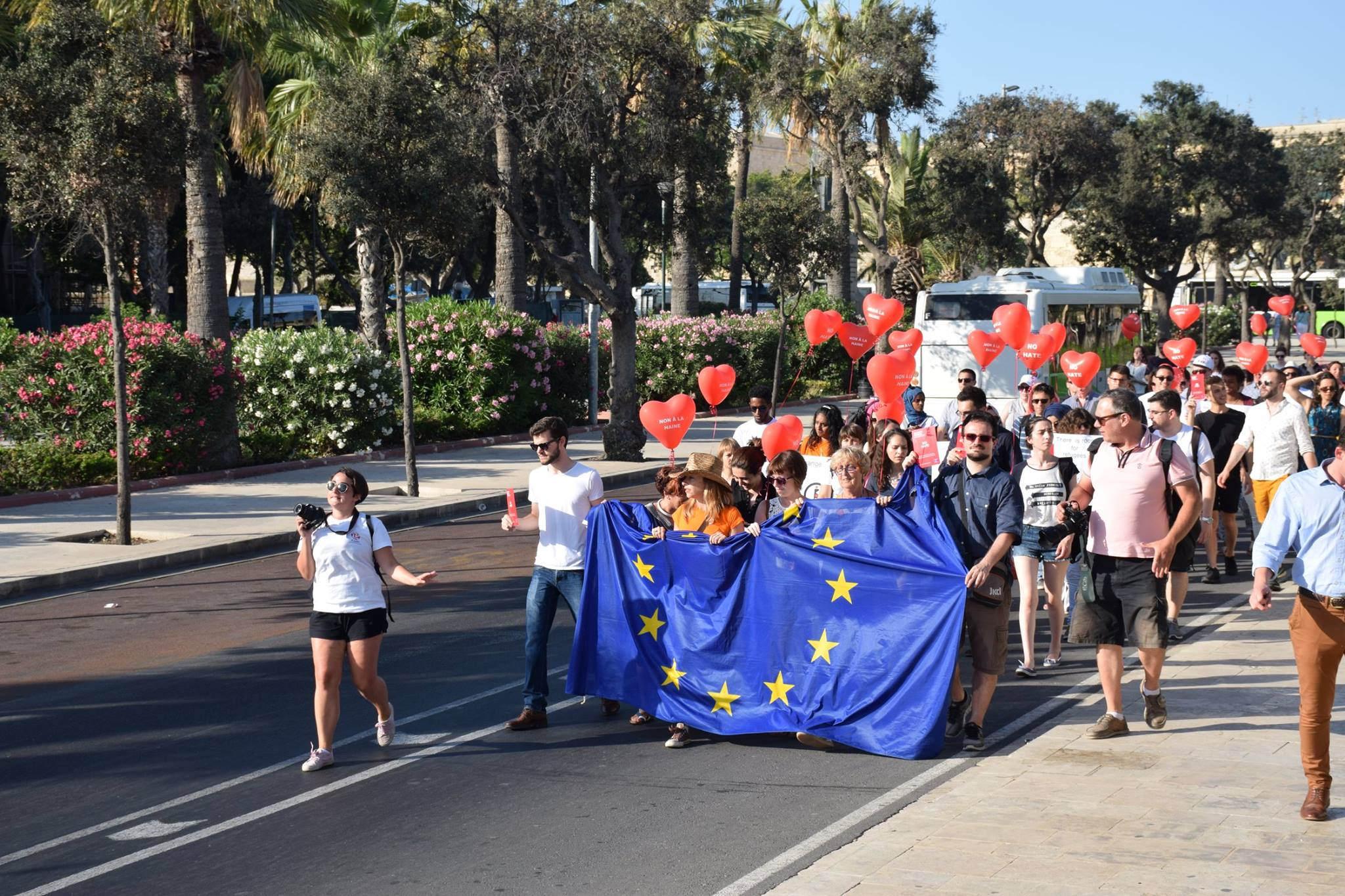 Manifestation des JEF Europe