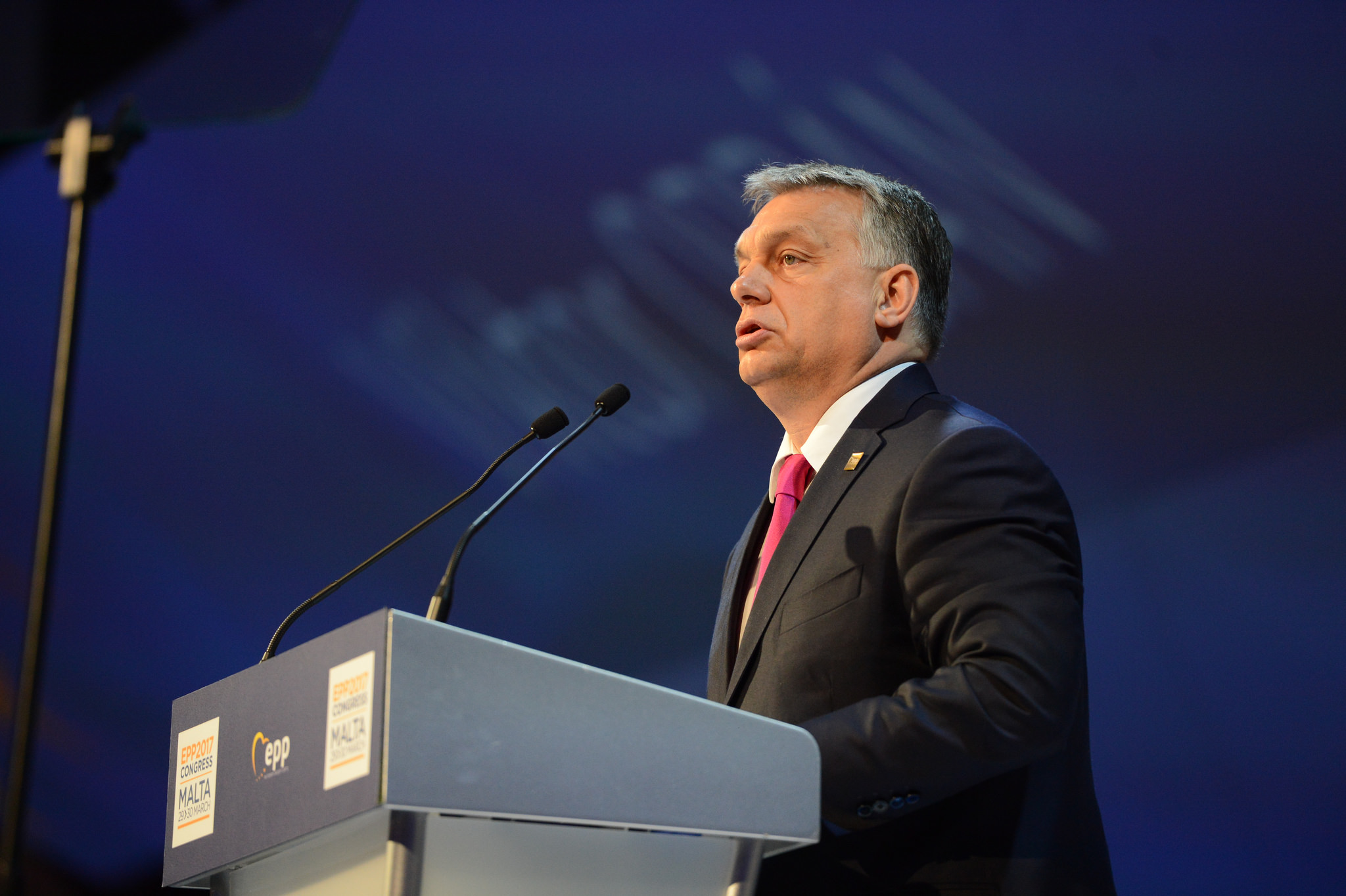 Viktor Orban lors du congrée EPP en 2017