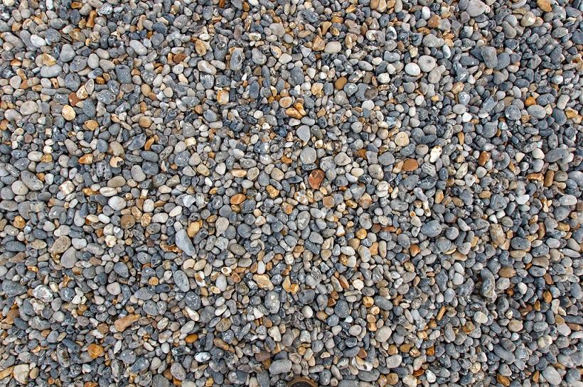 Des galets sur la plage de Dieppe